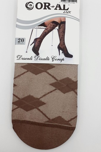 ORAL ÇORAP - Oral Kadın İnce Dizaltı Çorap Lüks Desenli Kristal (12 adet) (1)