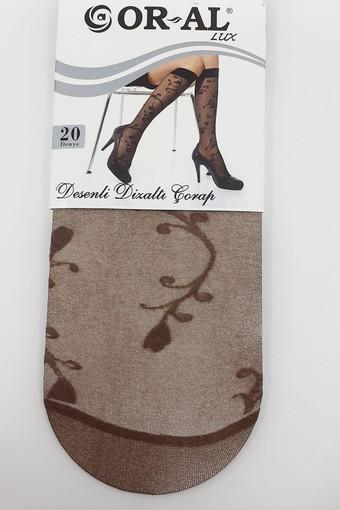 ORAL ÇORAP - Oral Kadın İnce Dizaltı Çorap Lüks Desenli Lale (12 adet)