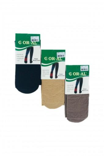 ORAL ÇORAP - Oral Kadın İnce Dizaltı Çorap Masaj (12 adet) (1)
