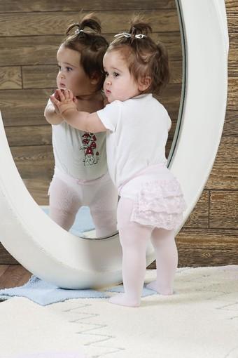 ORAL - Oral Kız Bebek Külotlu Çorap Dantelli (12 adet)