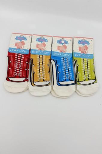 ORAL - Oral Kız Çocuk Soket Çorap Ayakkabı Desenli (12 adet) (1)