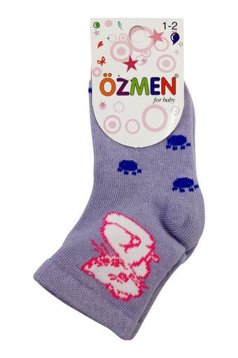 OZMEN - Özmen Kız Bebek Soket Çorap Desenli (12 adet)