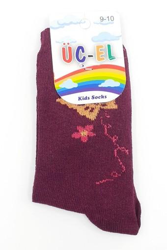 ÖZMEN - Özmen Kız Çocuk Soket Çorap Üçel Ekonomik Desenli (12 adet) (1)