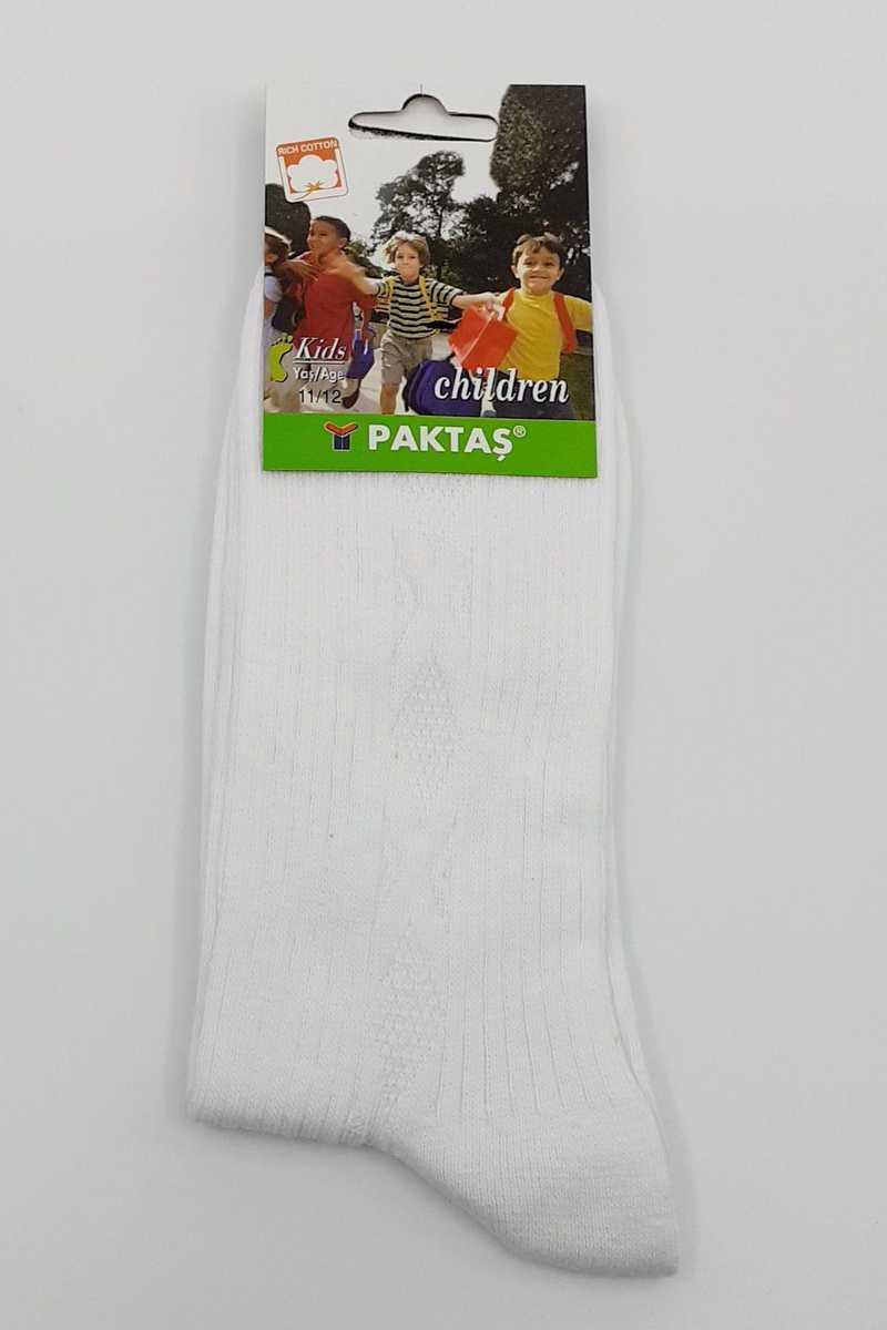 Paktaş Kız Çocuk Soket Çorap No:11 Kabartma Penye - Thumbnail