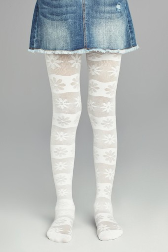 PENTİ - Penti Kız Çocuk İnce Külotlu Çorap Pretty Flower Line (3 adet)