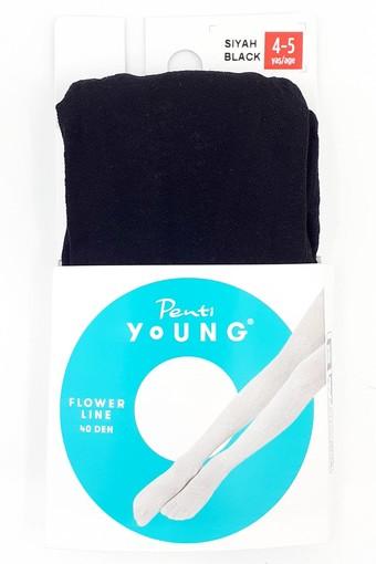 Penti Kız Çocuk İnce Külotlu Çorap Pretty Flower Line (3 adet) - Thumbnail