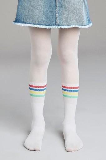 PENTİ - Penti Kız Çocuk İnce Külotlu Çorap Pretty Rainbow Stripe (3 adet)