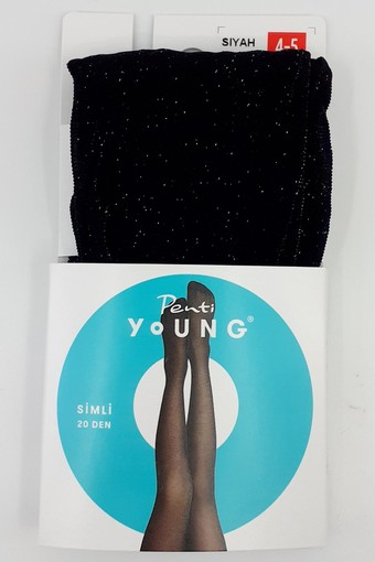 PENTİ - Penti Kız Çocuk İnce Külotlu Çorap Pretty Simli (3 adet)