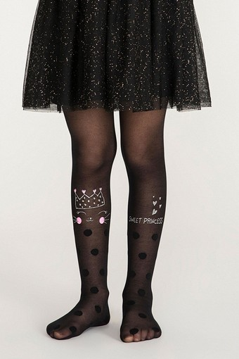 PENTİ - Penti Kız Çocuk Külotlu Çorap Princess Cat (3 adet) (1)