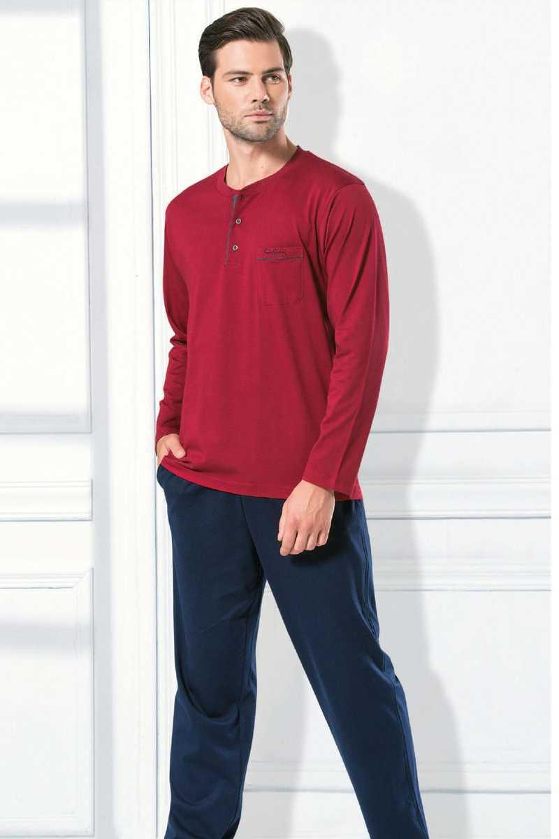 Pierre Cardin Erkek Çeyizlik Pijama Takımı Penye - Thumbnail