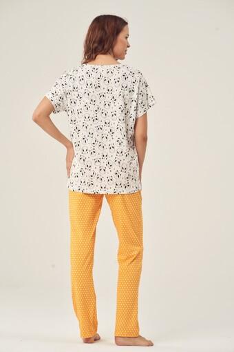 PİJADORE - Pijadore Kadın Pijama Takımı Kısa Kol Dream Big Baskılı (1)