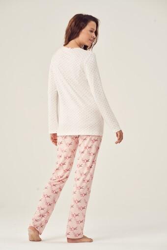 PİJADORE - Pijadore Kadın Pijama Takımı Uzun Kol Dört Düğmeli (1)