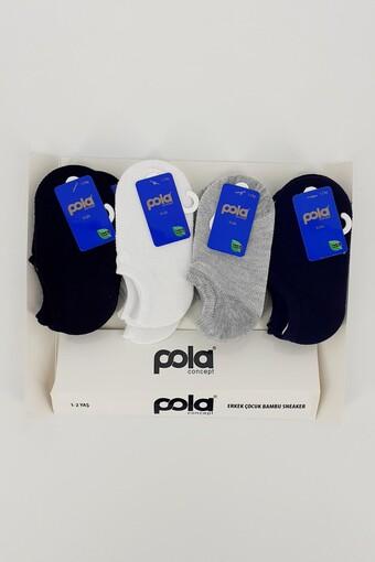 POLA - Pola Erkek Çocuk Patik Çorap Bambu Melih (12 adet)
