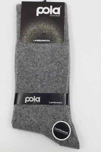 POLA - Pola Erkek Soket Çorap Borough Desenli Lambswool (12 adet) (1)