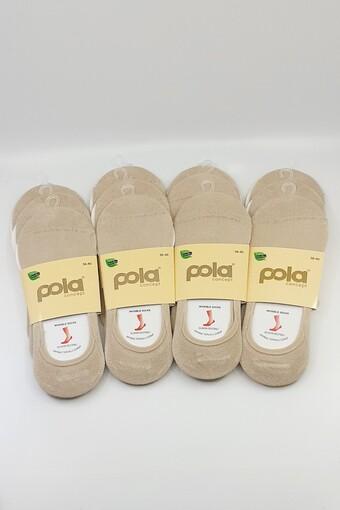 POLA - Pola Kadın Babet Çorap Bambu Düz