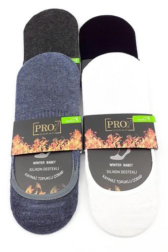 PRO ÇORAP - Pro Erkek Babet Çorap Asteria Bambu Havlu Düz (12 adet)