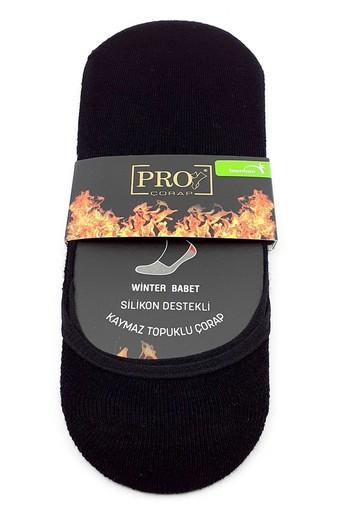 PRO ÇORAP - Pro Erkek Babet Çorap Asteria Bambu Havlu Düz (12 adet) (1)