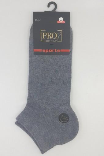 PRO ÇORAP - Pro Erkek Patik Çorap Maraton Penye Düz (12 adet)