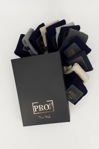 PRO ÇORAP - Pro Erkek Soket Çorap G.Ardeşen Penye Düz (12 adet)