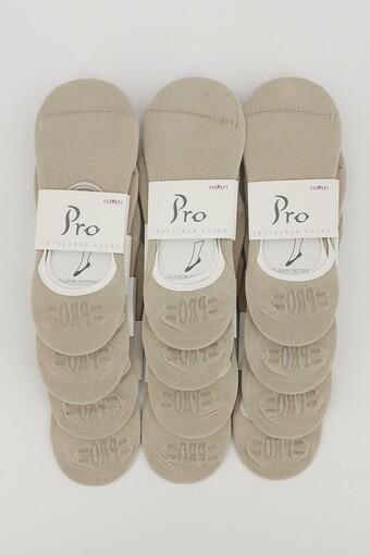 PRO - Pro Kadın Babet Çorap Bayan Penye - Düz (1)