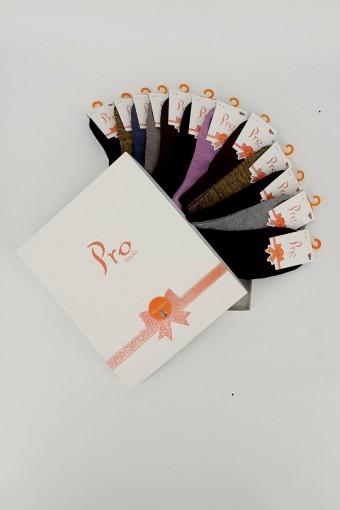 PRO ÇORAP - Pro Kadın Patik Çorap Saga Modal Bayan (12 adet) (1)