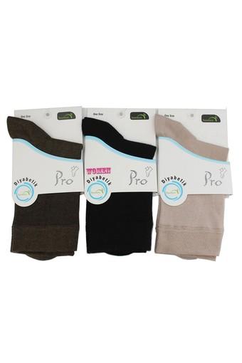 PRO ÇORAP - Pro Kadın Şeker Çorabı Bambu (12 adet)