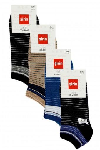 Şirin Erkek Dikişsiz Penye Patik Çorap (12 adet)