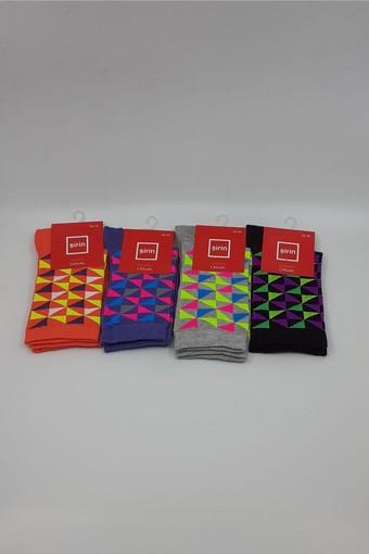 ŞİRİN - Şirin Kadın Soket Çorap Likralı Desenli Lüx SIRIN41509 (12 adet) (1)