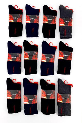 STARAY - Staray Erkek Soket Çorap Penye Termal Havlu (12 adet)