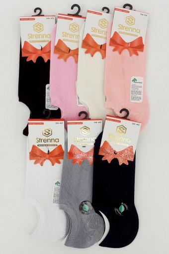 STRENNA - Strenna Kadın Sneaker Çorap Bamboo Düz (12 adet) (1)