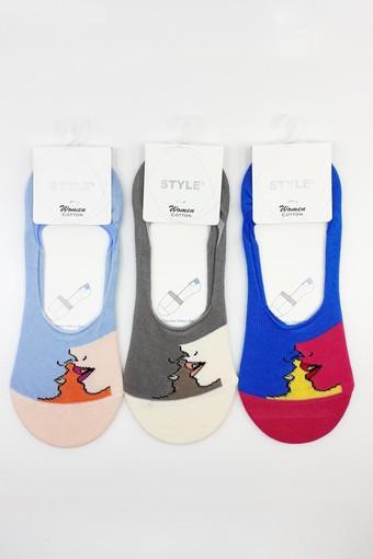 STYLE - Style Bayan Babet Çorap Penye STY9947 (12 adet)