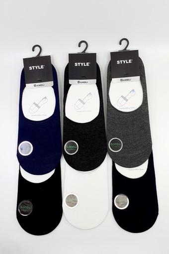 STYLE ÇORAP - Style Erkek Babet Çorap Bambu Düz (12 adet) (1)
