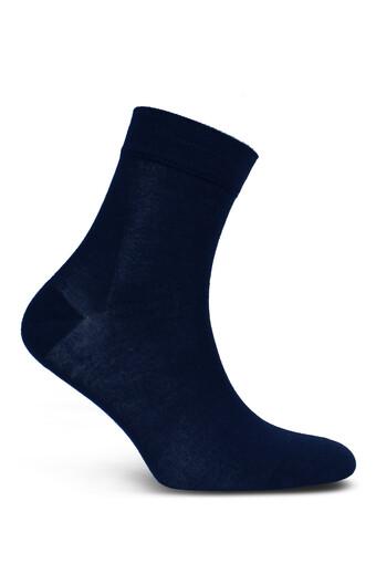 STYLE - Style Erkek Yarım Konç Çorap Düz Bambu