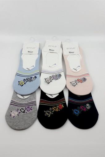 STYLE ÇORAP - Style Kadın Babet Çorap Pamuklu STY6704 (12 adet) (1)