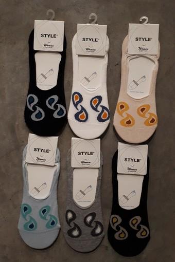 STYLE ÇORAP - Style Kadın Babet Çorap Suba Penye STY8762 (12 adet) (1)
