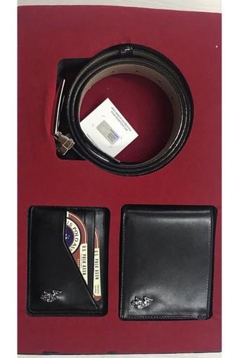 U.S. POLO - U.S. Polo Erkek Cüzdan-Kemer Takım Kartlıklı 3 Parça (1)