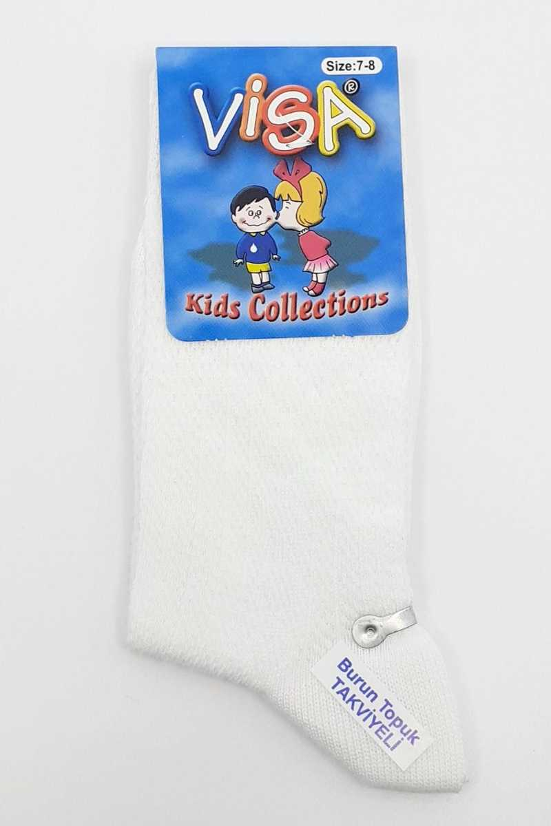 Visa-Çizgi Kız Çocuk Soket Çorap File