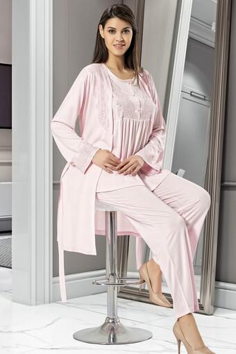 SESKON - X-Ses Kadın Fantezi 3 lü Pijama Takımı