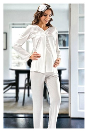 SESKON - X-Ses Kadın Lohusa 2'li Pijama Takımı (SES2340)