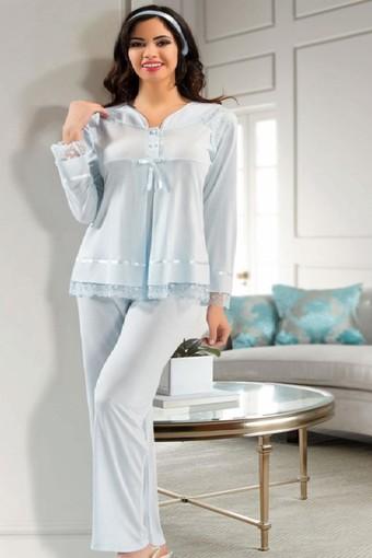 SESKON - X-Ses Kadın Lohusa 2'li Pijama Takımı (SES2180) (1)