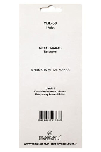 YABALI - Yabalı Makas No:6 Metal Saplı (1)