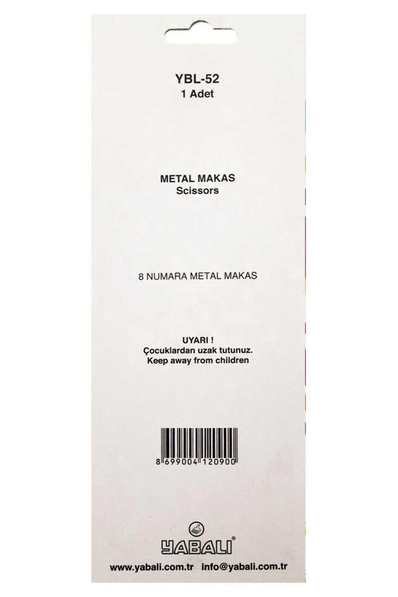 Yabalı Makas No:8 Metal Saplı - Thumbnail