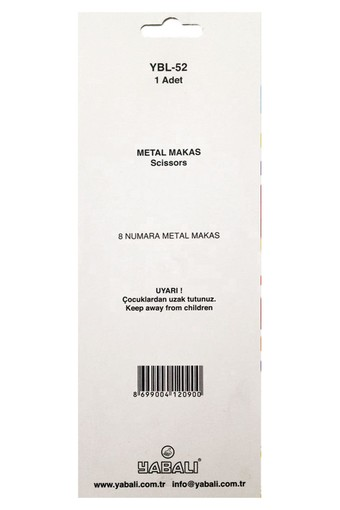YABALI - Yabalı Makas No:8 Metal Saplı (1)