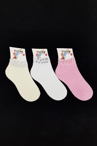 YETİŞ - Yetiş Kız Çocuk Soket Çorap Kılimalı Komple Taşlı (12 adet)