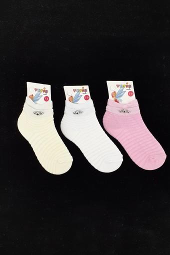 Yetiş Kız Çocuk Soket Çorap Kılimalı Taşlı 3 Taşlı (12 adet)