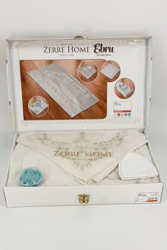 ZERRE HOME - Zerre Home Naz Seccade Takımı 6 Parça Kabartmalı İşlemeli